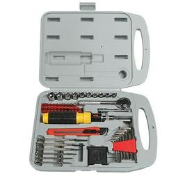 Hand Tool Set - 55 Piece Heavy Duty Portable Repair Kit with