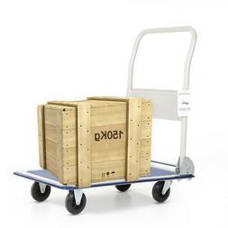 Hand Truck Dolly Folding Cart Heavy Duty Luggage Trolley Pla