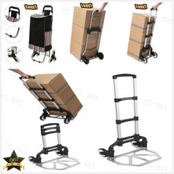 Hand Truck Dolly Luggage Carts 220 lbs Collapsible Portable&