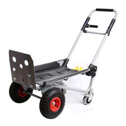 Hand Truck Dolly Steel 800 lb Heavy Duty Dual Capacity Conve