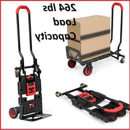 Hand Truck Folding Dolly Heavy Duty Foldable Cart Convertibl