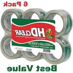 Duck HD Clear Heavy Duty Packaging Tape Refill, 6 Rolls, 1.8