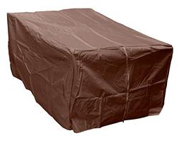 AZ Patio Heaters Fire Pit Cover in Mocha, Rectangle