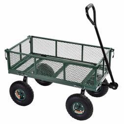 "Sandusky 34"" x 18"" Heavy-Duty Jumbo Crate Wagon, Green"