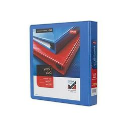 "Staples Heavy Duty 1 1/2"" 3-Ring View Binder Periwinkle  826"