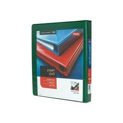 "Staples Heavy Duty 1"" 3-Ring View Binder Green  82708"