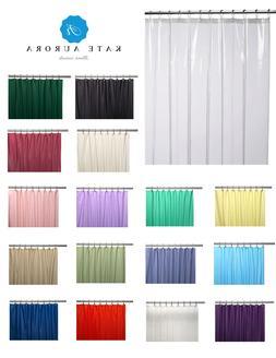 Hotel Heavy Duty 10 Gauge Vinyl Shower Curtain Liners - Asso