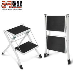Heavy Duty 2 Step Ladder Folding Non Slip Safety Stool Porta