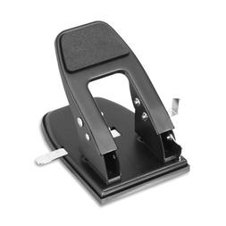 Officemate Heavy Duty 2-Hole Punch, Padded Handle, Black, 50