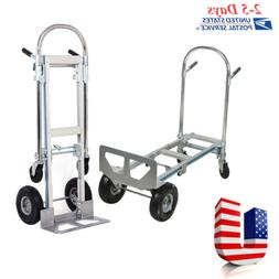 Heavy Duty 2IN1 Aluminum Hand Truck Convertible Fold 2Wheel