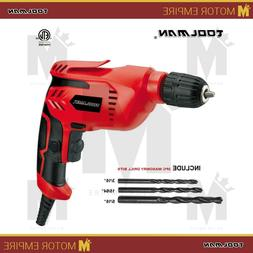 """Toolman Heavy Duty 3/8"""" Variable Speed Electric Power Drill"""