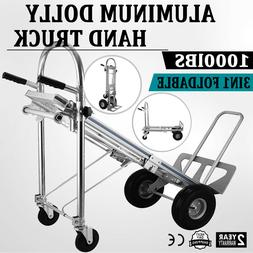 Heavy Duty 3in1 Convertible Hand Truck 4-Wheel Utility Cart
