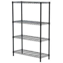 Heavy Duty 4-Tier Chrome Metal Kitchen Storage Unit Shelf Wi