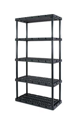 Heavy Duty 5 Shelf Plastic Freestanding Shelving Unit Utilit