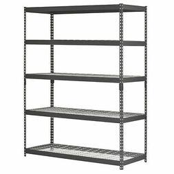 Heavy Duty 5 Shelf Steel Wire Rack 60 x 24 x 78 Garage Stora