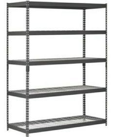 Heavy Duty 5 Shelf Steel Wire Rack 48 x 24 x 78 Garage Shelv