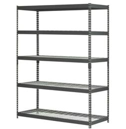 Heavy Duty 5 Shelf Steel Wire Rack 48 x 24 x 78 Garage Shelv