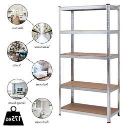"Heavy Duty 60""H Shelf Garage Steel Metal Storage Adjustable"