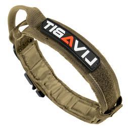 LIVABIT Heavy Duty 600D Nylon Tactical Dog Training Collar H