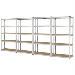 "Heavy Duty 71""H Shelf Garage Steel Metal 5 Level Adjustable"