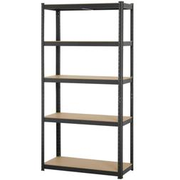 "Heavy Duty 71""H Shelf Garage Steel Metal Storage 5 Level Adj"