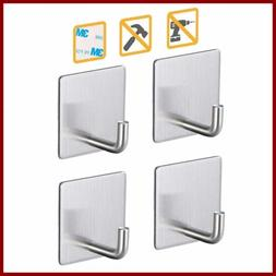Heavy Duty Adhesive Hooks Stainless Steel Damage Free 3M Wal