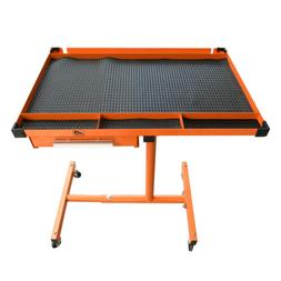 Heavy Duty Adjustable Work Table Bench,200 lbs Rolling Tool