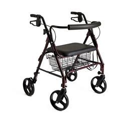 Medline Heavy Duty Bariatric Aluminum Mobility Rollator Walk