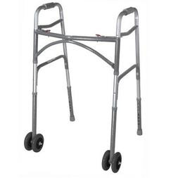 Drive Medical Heavy Duty Bariatric Two Button Walker with Wh
