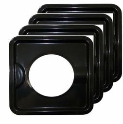 HEAVY DUTY BLACK STEEL SQUARE REUSABLE DRIP PAN GAS BURNER B