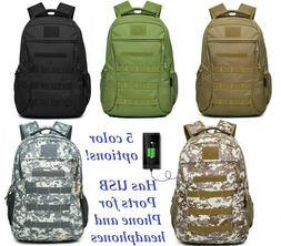 Heavy Duty Canvas Laptop Backpack Tactical Military Style Tr