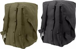 Heavy Duty Canvas Large Cargo Bag with Backpack Straps Cotto