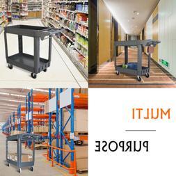 Heavy Duty Cart With Wheels Rolling Utility Service Shop Pla