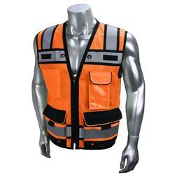 Radians Heavy Duty Class 2 Reflective Surveyor Safety Vest,