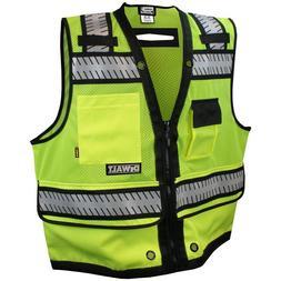 DeWALT Heavy Duty Class 2 Reflective Surveyor Safety Vest, Y