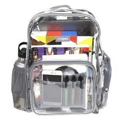 Heavy Duty Clear Backpack Transparent Durable Nylon School W