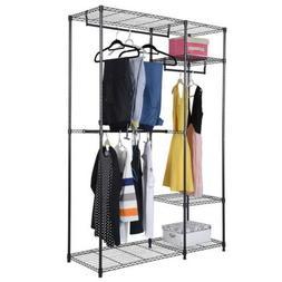 Heavy Duty Closet System Wardrobe Shelves Portable Clothes S