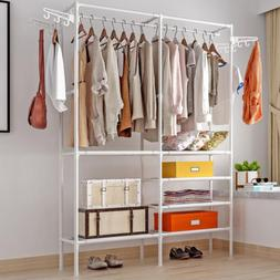 heavy duty closet wardrobe clothes garment rack