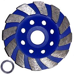 "Heavy Duty 4"" Concrete Turbo Diamond Grinding Cup Wheel for"