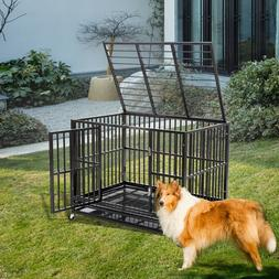 Heavy Duty Dog Cage Kennel Metal Pet Crate Playpen Portable