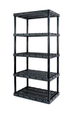 Heavy Duty Eco Friendly 36x74x24 5 Shelf Plastic Shelving Ga