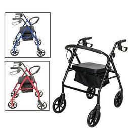 Heavy Duty Extra Wide Bariatric Rollator Rolling Walker with