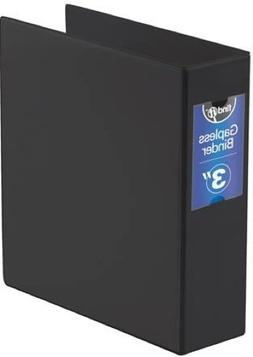 Find It Heavy Duty Flat Binder, 3 Inches, Non-View, Black