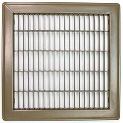 "12"" x 14"" - Heavy Duty Floor Grille - Fixed Blades - Brown"