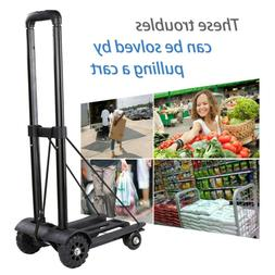 Heavy Duty Folding Hand Truck Dolly Luggage Carts Capacity T