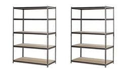 EDSAL Heavy Duty Garage Shelf Steel Metal Storage 5 Level Ad