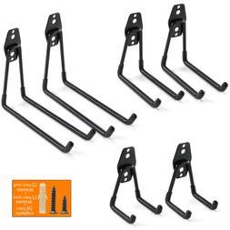 Heavy Duty Garage Storage Utility Hooks for Ladders  Tools,