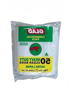 Glad Heavy Duty Garbage Bag Clear 50s x 4