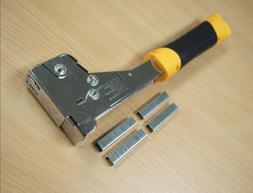 "Heavy Duty Hammer Tacker Stapler T50 6-14mm 1/4"" to 9/16"" wi"