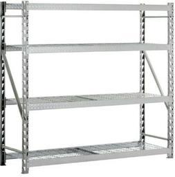 Heavy Duty Industrial 77x24x72 Steel 4 Shelf Garage Storage